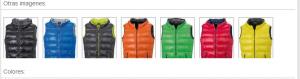 Plumas chalecos y chaquetas