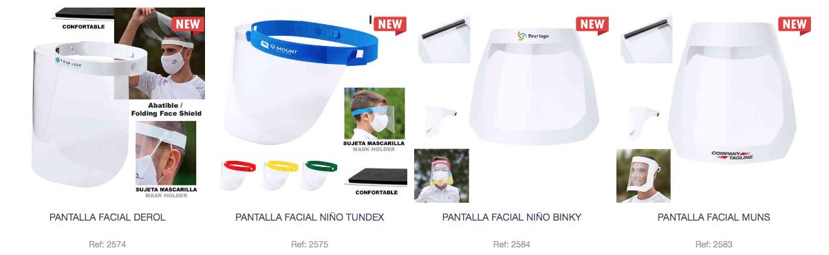 Pantallas faciales x2 - PRODUCTOS SEGURIDAD COVID19
