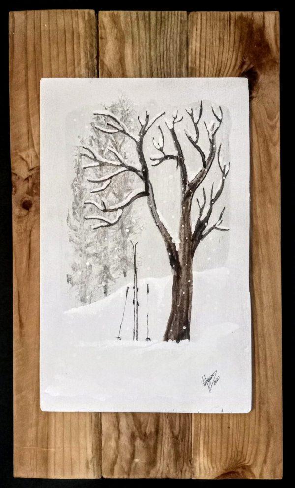 Tree & ski