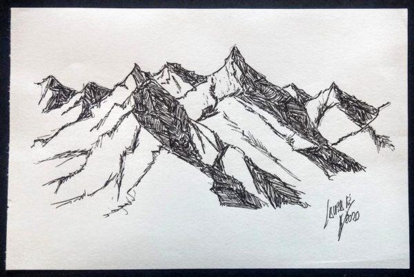 Montañas b/n